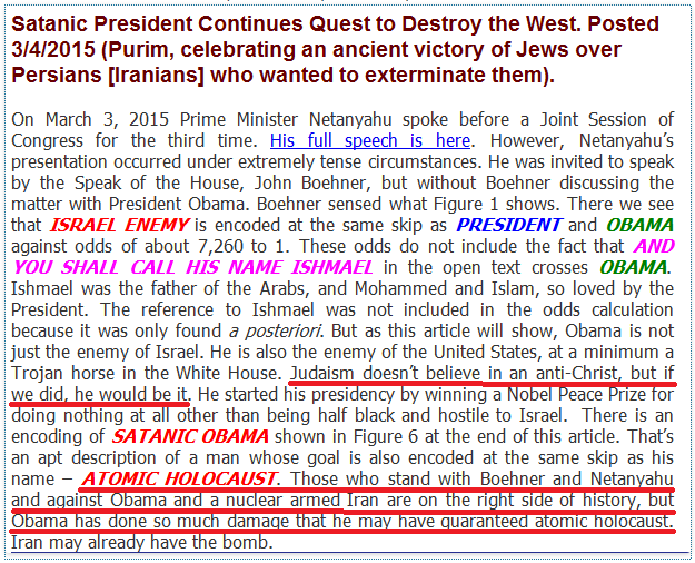 Comments on Enemy Obama Torah Code