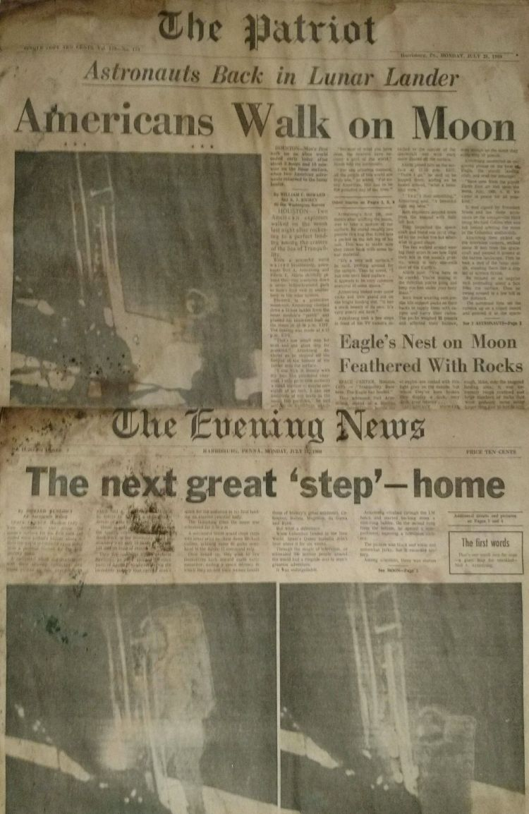 Moon Landing Newspapers