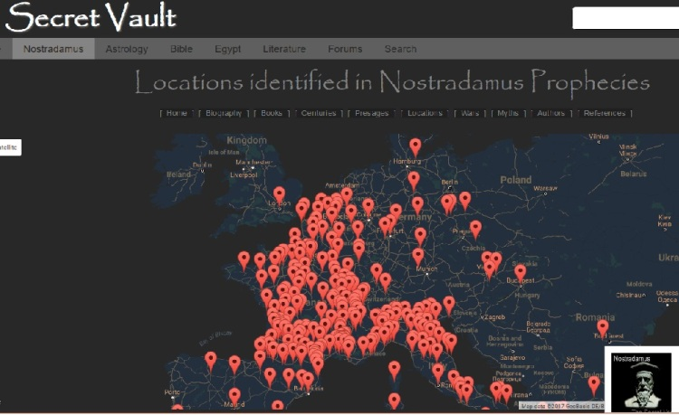 Nostradamus Locations Map