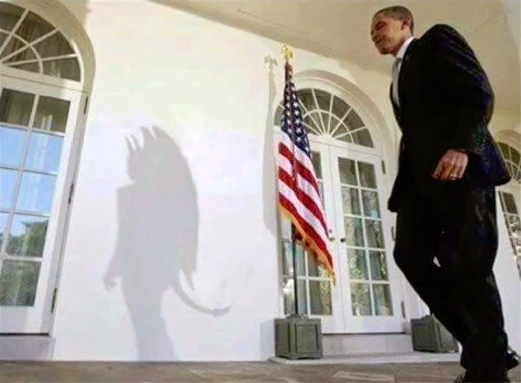 Obama Devil Shadow