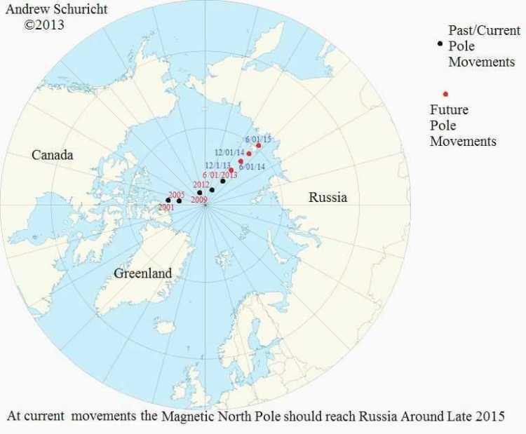 North Pole Map Elegant Magnetic North Pole Position 2001 2016 Different Maps